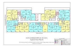1019 commonwealth ave floor plan housing boston university