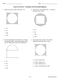 area of circles complex and inscribed figures grade 7 free