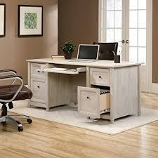 sauder 420606 palladia l desk vo a2 computer vintage oak amazon com sauder edge water executive desk in chalked chestnut