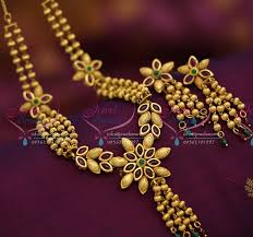 bead design jewelry necklace images Nl0715 exclusive gold imitation jewelry beads design ruby stones jpg