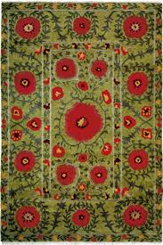Area Rugs Southwestern Style Field Of Poppies Carpet Green Tibetan Area Rug A Rug For All