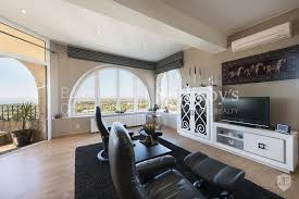 sea view living room magnificent house in mas fumats with sea view in roses spain for