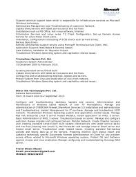 Networking Administrator Resume Netbackup Administration Cover Letter