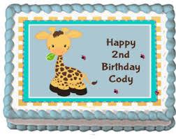 giraffe cake topper etsy
