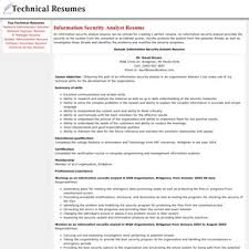 Electronic Resume Example by Information Security Specialist Resume Sample Resume Information