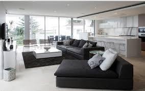 salon canape beautiful salon cuir noir decoration ideas amazing house design