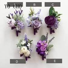 silk corsages yo cho bracelet silk flower flores flowers lavender hydrangea