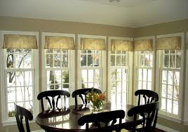 Curtains Hung Inside Window Frame Pleated Valance Traditional Dining Room Detroit By Susan S