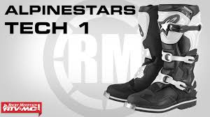 motocross boots alpinestars alpinestars tech 1 boot review youtube