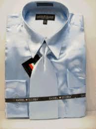men u0027s new light blue sky blue satin dress shirt tie com