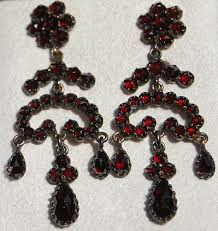 Garnet Chandelier Earrings Bohemian Garnet Chandelier Earrings