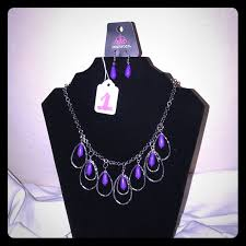 silver purple necklace images Paparazzi jewelry 5dollarblingpurplenecklaceearrings poshmark jpg