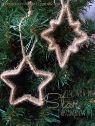 twine wrapped star 12 days of christmas ornaments twine