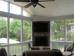 screened porch with fireplace cost home design ideas