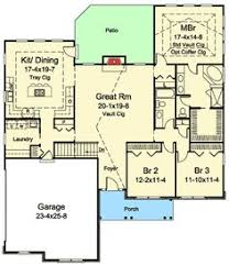 Ranch Basement Floor Plans Ranch Style Open Floor Plans With Basement Areas Colored In