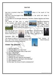 66 free esl new york worksheets