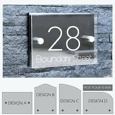 Lighted House Number Sign Front Door Numbers Plaques Aurora Led Lit House Number Plaque