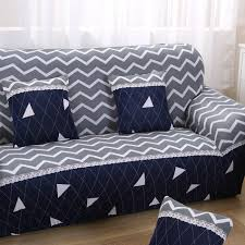 Loveseat Slipcover Aliexpress Com Buy Stripe Geometric Design Fabric Cover Sofa New