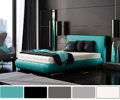 Modern Blue Bedrooms - bedroom good picture of blue and black bedroom decoration using