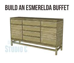 How To Build A Buffet Cabinet by Build An Esmerelda Buffet U2013 Designs By Studio C