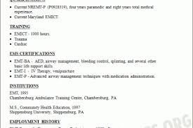 Paramedic Resume Sample by Emt Paramedic Resume Sample Resumes Design Paramedic Resume