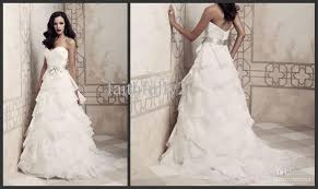 discount 2013 sweetheart organza a line ruffles wedding dresses