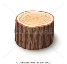 tree cross section table cross section of tree stump vector illustration isolated vector