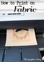print fabric freezer paper method graphics fairy