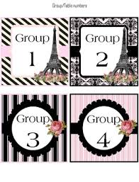 themed table numbers table number labels classroom decoration theme