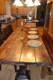 Two Unique Rustic Dining Room Sets 25 Best Rustic Wood Dining Table Ideas On Pinterest Kitchen