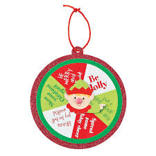 elf spinner ornament craft kit orientaltrading com crafts