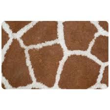 Bungalow Flooring Microfibres Kitchen Rug Bungalow Flooring Multi Color 18 In X 27 In Neoprene Giraffe