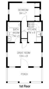 2 bedroom cottage floor plans cottages tumbleweed houses