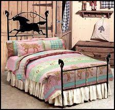 u0027s western horse bedding playful ponies and cheerful flower