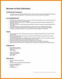 professional summary resume resumes professional summary exles musiccityspiritsandcocktail