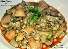 cuisine traditionnelle algeroise tbikha algeroise ou jardinière de legumes en sauce couscous et