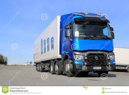 semi volvo truck parts blue renault trucks t semi parked editorial stock image image