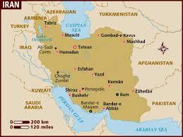 map iran map of iran