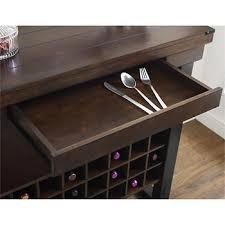 Espresso Bar Cabinet Ameriwood Home Wildwood Wood Veneer Bar Cabinet Espresso Bj S