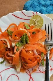 sesame ribbon carrot ribbon salad with sesame honey dressing something s cooking