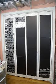 Thin Closet Doors Storing Thin Metal Dies On Magnetic Sheets On The Wall Scrap And