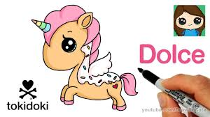 how to draw a cute unicorn easy dolce tokidoki youtube