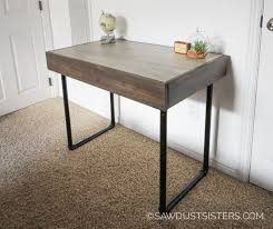 How To Build A Small Computer Desk Build A Small Computer Desk With Pipe Legs Free Plans Sawdust