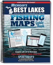 Michigan Dnr Lake Maps by Michigan U0027s Best Lakes Fishing Maps Guide Book Sportsman U0027s