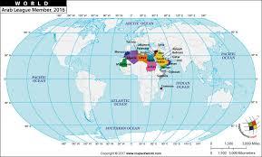 arab countries map arab league nations countries