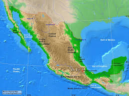 Map Of The United States With Landforms by Central America Physical Map A Learning Family Major Landforms In