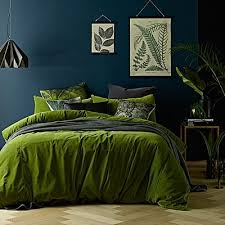Green Double Duvet Cover Quilt Covers Quilt Cover Sets King U0026 Queen Sizes Zanui