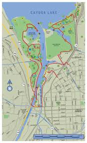 Ithaca Map Ithaca Trails Cayuga Waterfront Trail