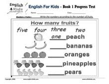 english for kids esl kids exam worksheets