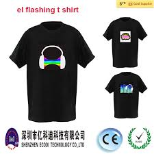 custom light up t shirts el t shirt wireless custom light up t shirt programmable led tshirt
